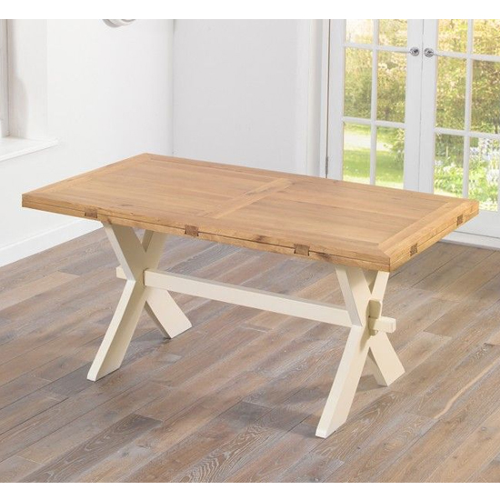 Mayfair All Sides Extending Dining Table In Oak And Cream